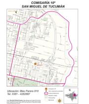 Mapa comisaría Nro 10 San Miguel de Tucumán