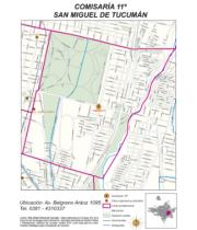 Mapa comisaría Nro 11 San Miguel de Tucumán