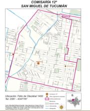Mapa comisaría Nro 12 San Miguel de Tucumán