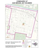 Mapa comisaría Nro 14 San Miguel de Tucumán