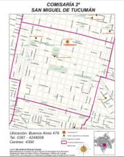 Mapa comisaría Nro 2 San Miguel de Tucumán