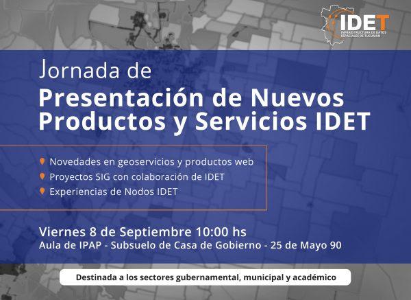 GeoSPlan participará de la Jornada de Presentación IDET