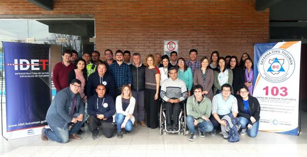 Técnicos de GeoSPlan participaron en la capacitación de elaboración de mapas de riesgo