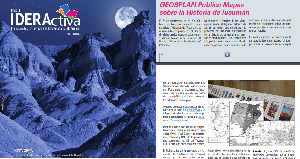 GeoSPlan en la Revista de IDERA 2018