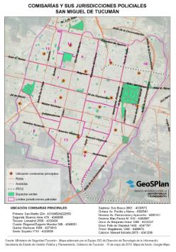 GeoSPlan publicó los mapas de las jurisdicciones policiales