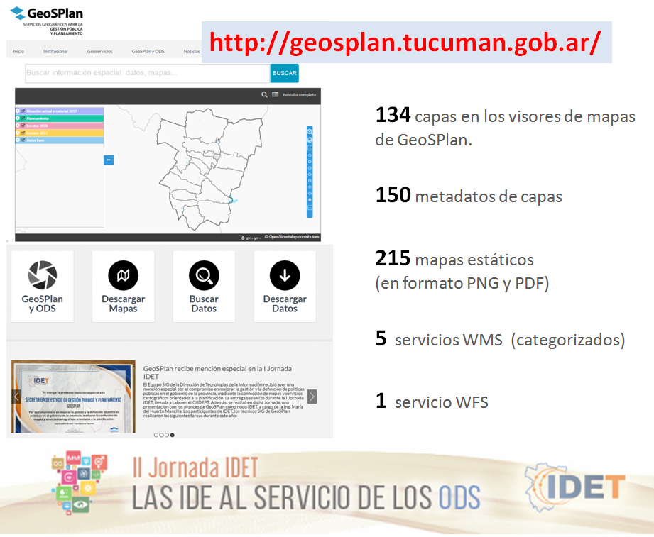 GeoSPlan participó de la II Jornada IDET