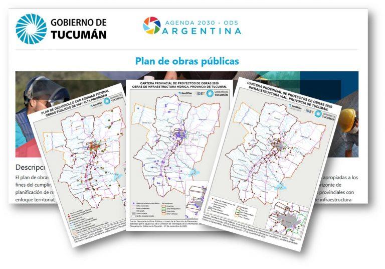 GeoSPlan realizó la georreferenciación del Plan de Obras Públicas de la provincia de Tucumán